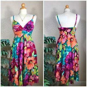 JAMS WORLD RARE Teaberry tropical maxi dress